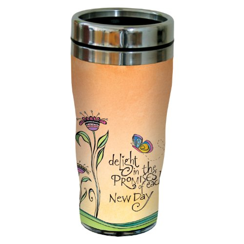 Tree-Free Greetings sg23921 Delight In The Promise by Joanne Fink Sip 'N Go Stainless Steel Lined Travel Tumbler, 16-Ounce