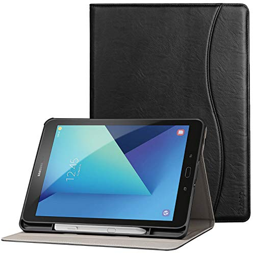 Ztotop Folio Case for Samsung Galaxy Tab S3 9.7-Inch 2017 (SM-T820/T825/T827), Premium Leather Stand Cover for Galaxy Tab S3 Tablet with Auto Sleep/Wake, S Pen Holder, Multi-Angle Viewing, Black