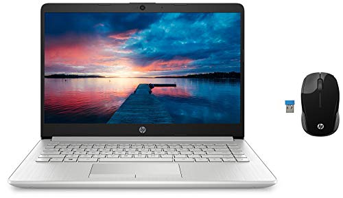 HP 14 10th Gen Intel Core i3 Processor 14-inch FHD Laptop with Built-in 4G LTE (4GB/1TB HDD/Windows 10/MS Office 2019/Natural Silver/1.51kg) 14s-er0002TU and Wireless Mice Combo