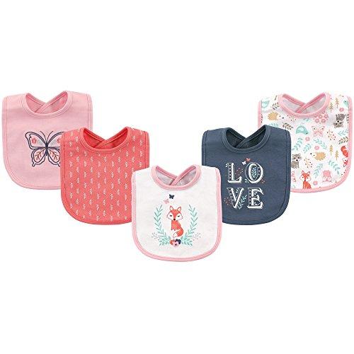Hudson Baby Cotton Drooler Bib, 5 Pack, Woodland Fox - Fox Baby Bib