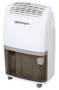 Orbegozo DESHUMIDIFICAD. 20L DH 2060 48DB. Digital.DEPOS, 380 W, 3.5 litros, 48 Decibeles, 2 Velocidades, Blanco y Negro