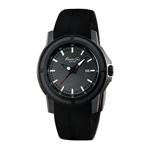 Kenneth Cole Black Round Silicone Analog Mens Watch KC1942
