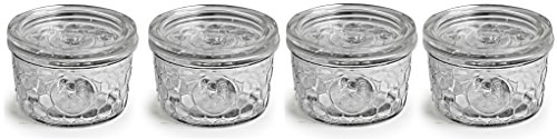 Circleware Rooster Yorkshire Mason Glass Jars Glass with Glass Lids, 12 Ounce, Set of 4, Limtited Edition Glassware Serveware by Circleware (Image #4)