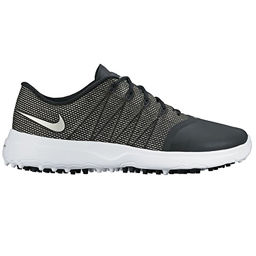 NIKE Lunar Empress 2 Spikeless Golf Shoes 2016 Women Black/White/Metallic Silver Medium 6.5