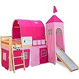 Alex Daisy Castle Loft Bed for Kids - Pink