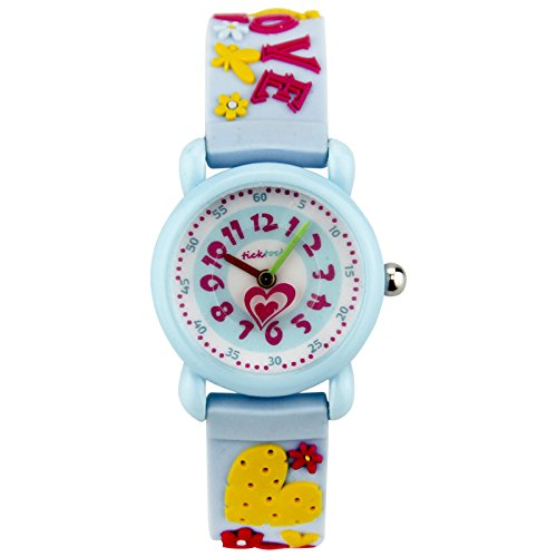 Xmas Gift for Children,Jian Ya Na Lovely Cartoon Children Watch,Silicone Strap Digital Round Quartz Wristwatches for Girls Boys Kids (Blue(3D Love )) by Jian Ya Na (Image #2)