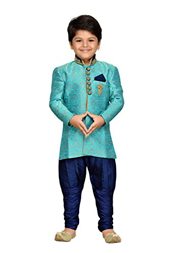 AJ Dezines Kids Indian Ethnic Wear Bollywood Style Sherwani for Boys (710-FIROZI-9) by AJ Dezines
