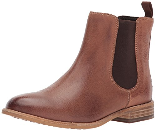 CLARKS Women's Maypearl Nala Ankle Bootie Dark Tan Leather