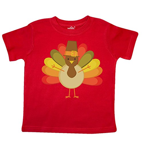 inktastic - Thanksgiving Pilgrim Turkey Holiday Toddler T-Shirt 5/6T Red dd49