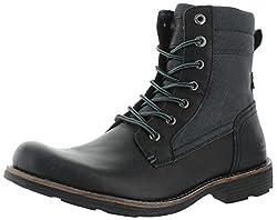 Levis Men's Lex Chukka Boot, Black/Charcoal, 8 M US