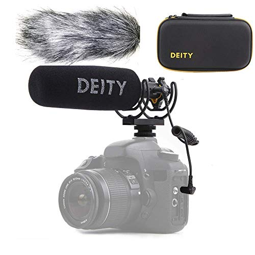 Deity V-Mic D3 Pro High SNR Super-Cardioid Directional Shotgun Microphone with Rycote Shockmount for DSLRs, Camcorders, Smartphones, Tablets, Handy Recorders, Laptop,Bodypack Transmitters, Wind Shield