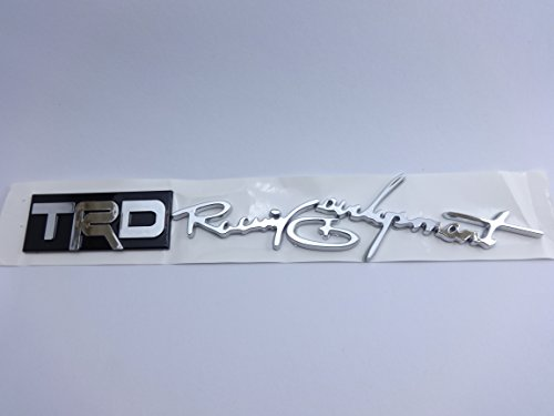 TRD Racing Development Emblem Badge Car Accessories with chrome effect and 3M Adhesive