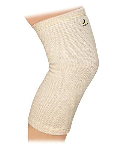UptoFit Women Knee Sleeves Copper Compression Knee Brace for Arthritis Lightweight Everyday Knee Support for Women & Men White Beige (M)