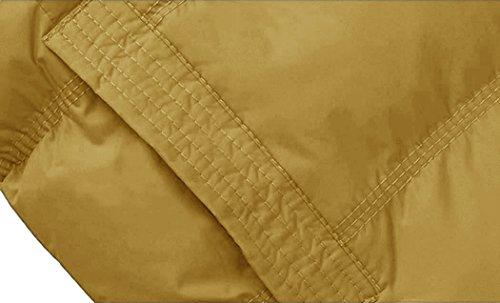 Chaleco Wantdo con Amarillo para Capucha de Mujer Algodón aqwvOR