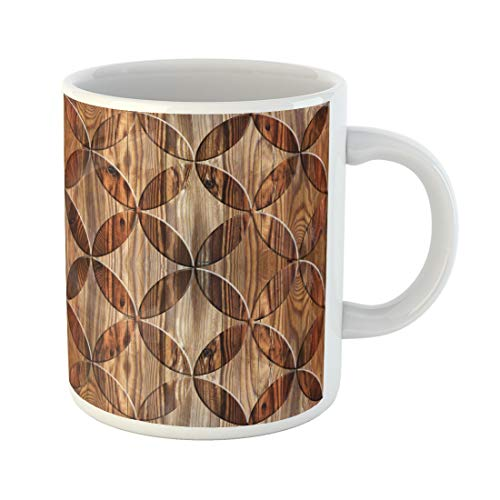 Semtomn Funny Coffee Mug Interior Design Wallpaper Paneling Pattern Abstract Decoration Material Oriental Decor 11 Oz Ceramic Coffee Mugs Tea Cup Best Gift Or Souvenir