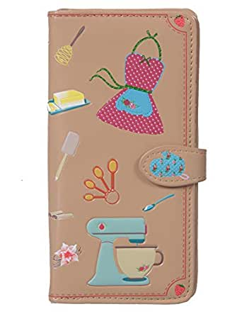 Shag Wear Women's Large Baking Needs Wallet w/Zipper (Beige)