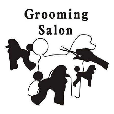 lyclff Funny Grooming Salon Cita Pegatinas de Pared Perros Silueta ...