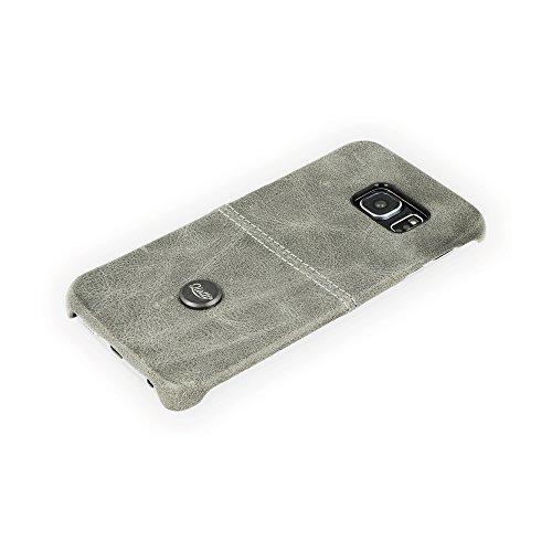 QIOTTI QX-C-0060-02-SGS6E Snapcase Q.Snap Smart Premium Echtleder für Samsung Galaxy S6 Edge grau
