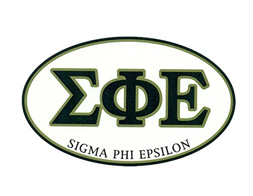 (Greekgear Sigma Phi Epsilon SigEp Euro Decal Oval Sticker)