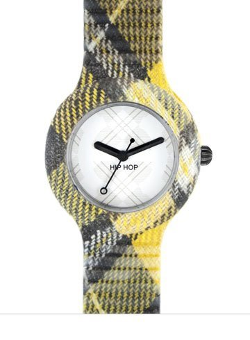 GENUINE BREIL HIP HOP Watch TARTAN Unisex EDINBURGH YELLOW - hwu0375