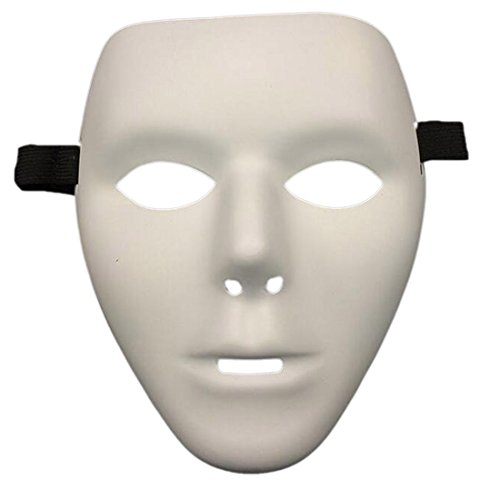Scary White Face Mask Halloween Masquerade Ball Party Costume Festival White (Halloween Masks Scary)