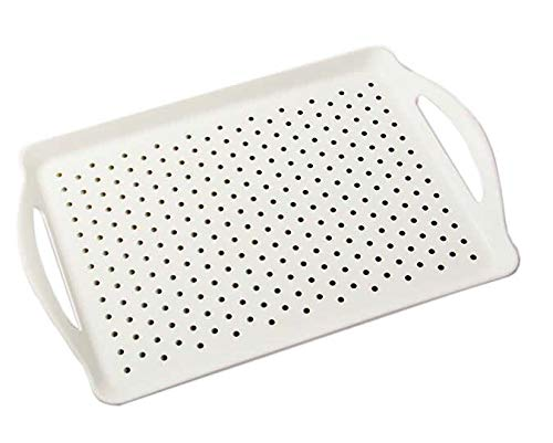 Rectangle Non Skid Serving Tray with Handle, Non-slip on the Back either! -