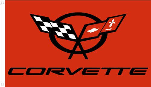 NEOPlex Corvette Red Traditional Flag