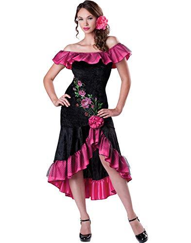 InCharacter Costumes Women's Flirty Flamenco Costume, Black/Pink, X-Large ()