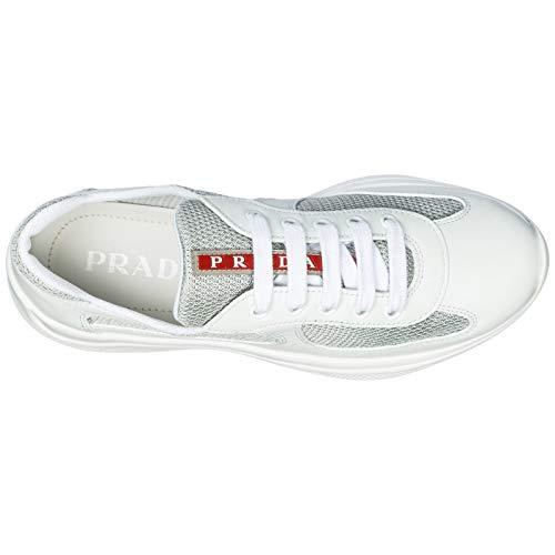 Donna argento Bianco Sneakers America's Cup Prada qxf40Rq