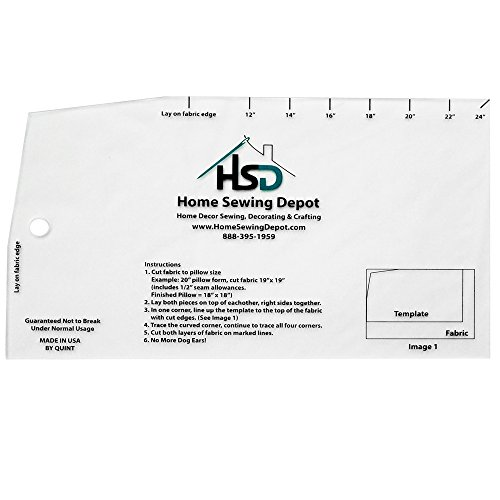 Mini Tapered Corner Pillow Template - All Sizes by Home Sewing Depot