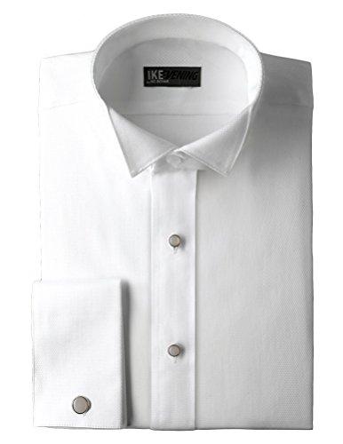 Ike Behar Cotton Pique Wing Collar Shirt - Pique Tuxedo Shirts