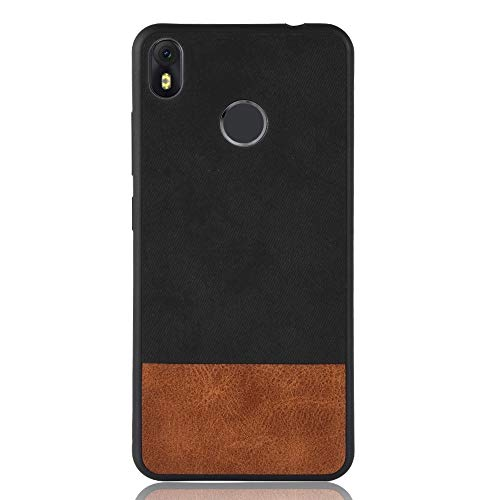 for Cellphone Cases, Shockproof Color Matching Denim PU + TPU Case for  Tecno Infinix Hot S3 X573 (Color : Black)