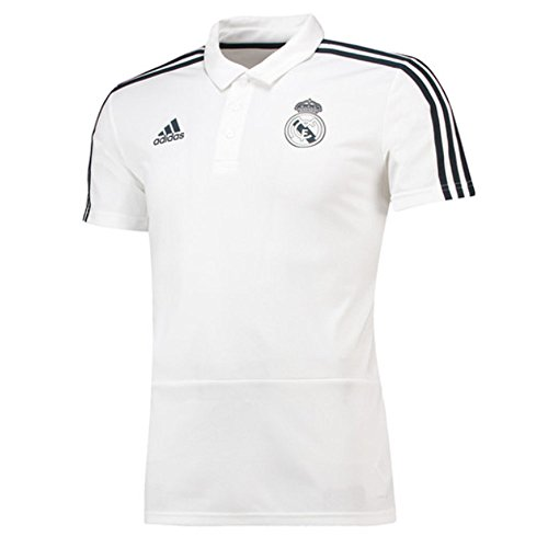 (adidas 2018-2019 Real Madrid Polo Football Soccer T-Shirt Jersey)