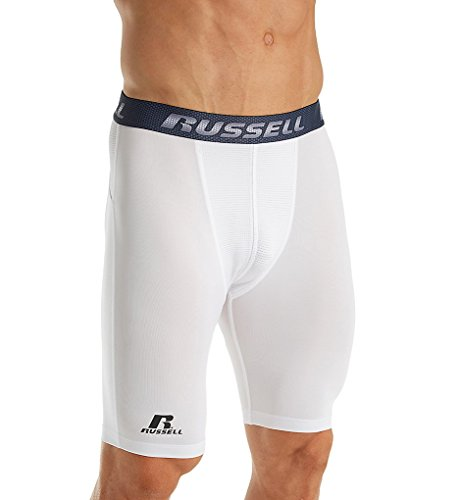 Russell Mens Performance Compression Short White Xl (Uniforms Baseball Athletic Russell)
