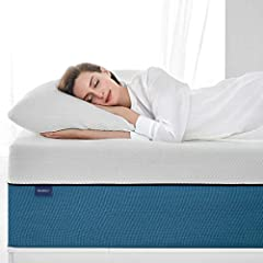 (1)Comfy Molblly improved foam can absorb 95% of pressure, creating a ZERO-STRESS sleeping environment and offering you more deep sleep. (2)Fresh Molblly's memory foam contains millions of holes which allows air to flow freely. Meanwhile, the...