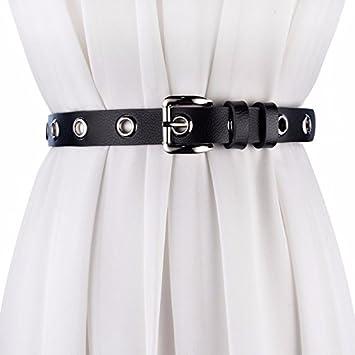 ZHANGYONG Cinturón de Mujer Ahuecado Hebillas de Cuero de ...