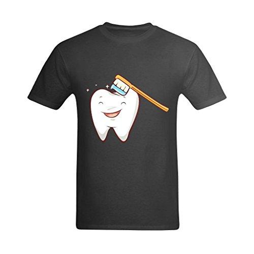 Neryaing Men's Dentist Tooth Toothbrush Tshirt 7]()