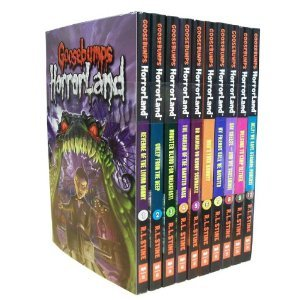 GOOSEBUMPS HORRORLAND 10-BOOK SET (Revenge of the Living Dummy, Creep from the Deep, Monster Blood for Breakfast, The Scream of the Haunted Mask, Who's Your Mummy?, My Friends Call Me -