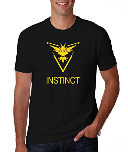 Men's Pokemon Go Team Instinct Logo Black T Shirt M