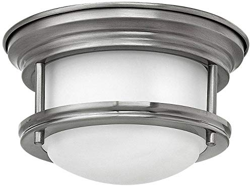 (Hinkley 3308AN Restoration One Light Flush Mount from Hadley collection in Pwt, Nckl, B/S, Slvr.finish,)