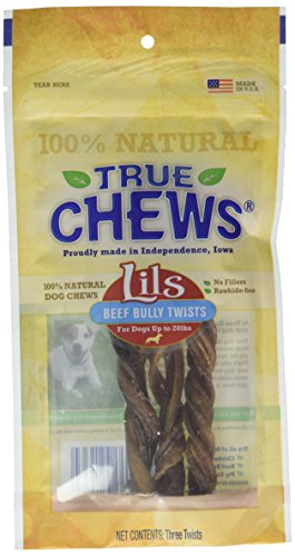 """UPC 031400021364, True Chews® Lils USA Beef Bully Twists Odor Free for Little Dogs 6"""" 3 Sticks"""