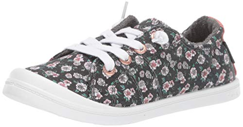 Roxy Girls' RG Bayshore Slip On Sneaker Shoe, Black Graphic Mini Floral, 2 Medium Youth US Big Kid]()