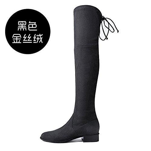 FLYRCX elastische Herbst und Winter mit dicken warmen Dicken elastische FLYRCX Bandage Damen Stiefel heels Europäische Größe: 33-40 A 8ce4d7