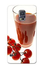 Duefep-3220-edijnuu Tpu Phone Case With Fashionable Look For Galaxy S5 - Tomato Juice Case For Christmas Day's Gift