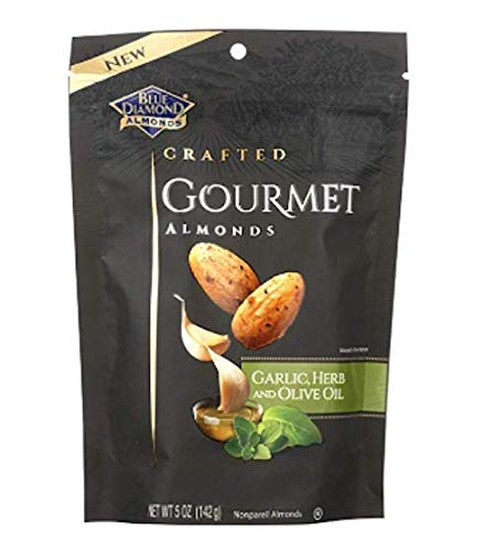 Blue Diamond Almonds Gourmet Garlic, Herb and Olive Oil, 5 Ounces
