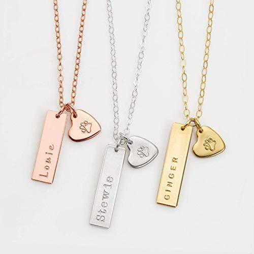 Pet remembrance necklace, dog necklace personalized, dog jewelry, paw print necklace, pet necklace, dog paw necklace, custom dog necklace