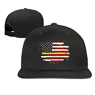 America Flag Plain Adjustable Snapback Hats Men's Women's Baseball Caps