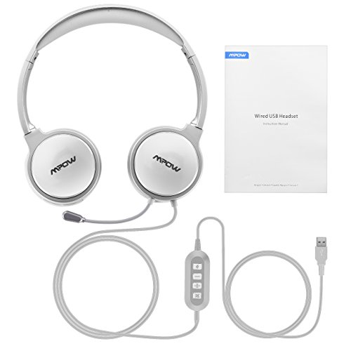 3cbeb78f7d6 Mpow 071 USB Headset/3.5mm Computer Headset with Microphone Noise Cancelling,  Lightweight PC