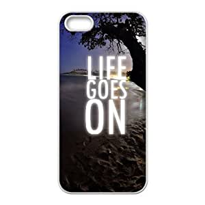 iPhone 5 5s Cell Phone Case White quotes life goes on 33 SP4177249