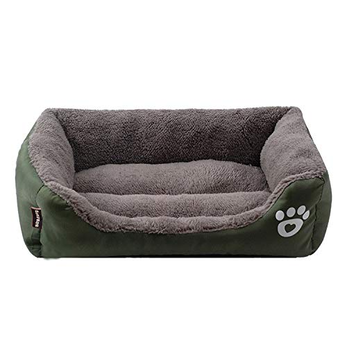 Dark green M Dark green M Pet Bed, Sofa Bed, Cat Litter, Can Be Washed with Water,Easy to Clean (color   Dark Green, Size   M)